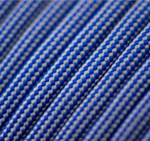 Electric Blue and Silver Grey Stripes
