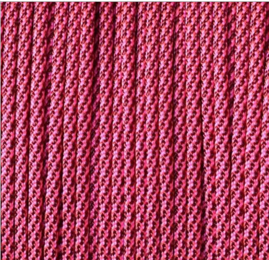 Burgundy Neon Pink Cancy Cane