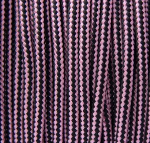 Rose Pink & Black Stripes